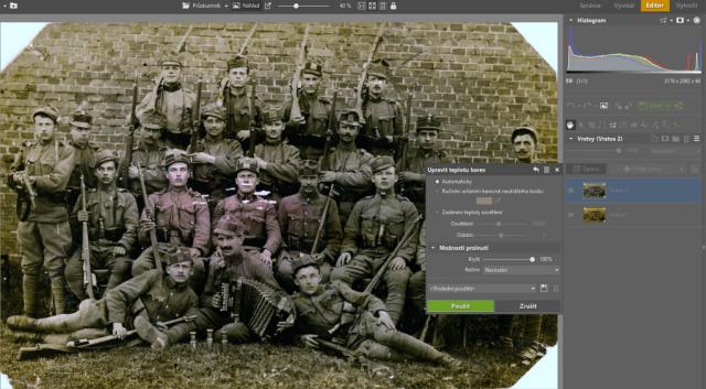 Jak upravit staré fotky: úprava barevnosti.