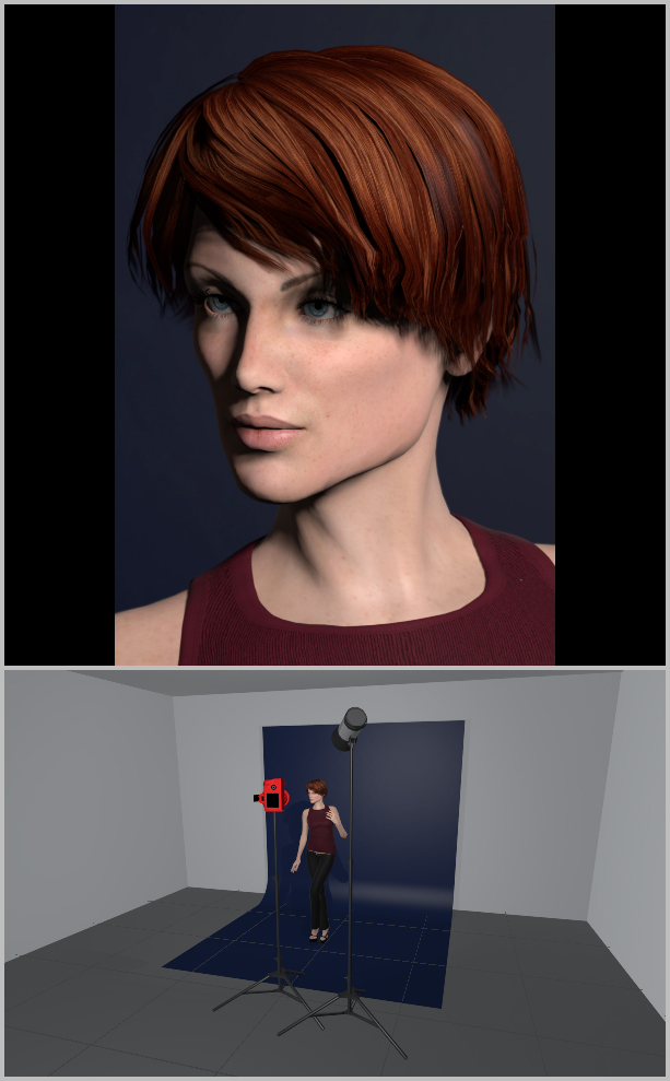 Jak nasvítit portrét I - broad lighting