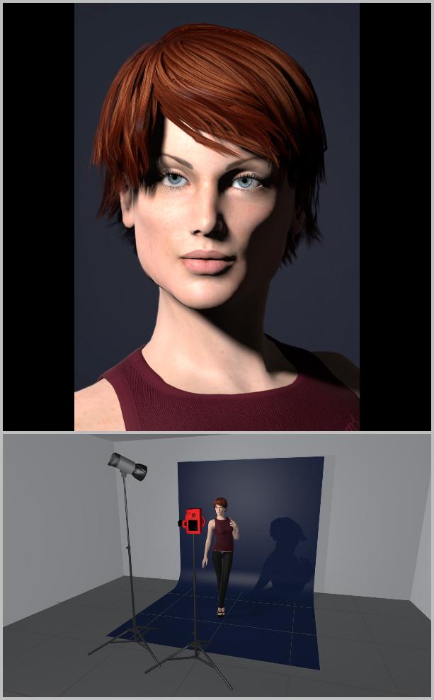 Jak nasvítit portrét I - loop lighting