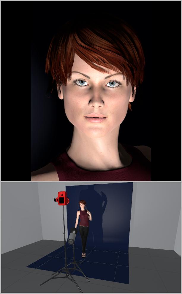 Jak nasvítit portrét I - podsvícení