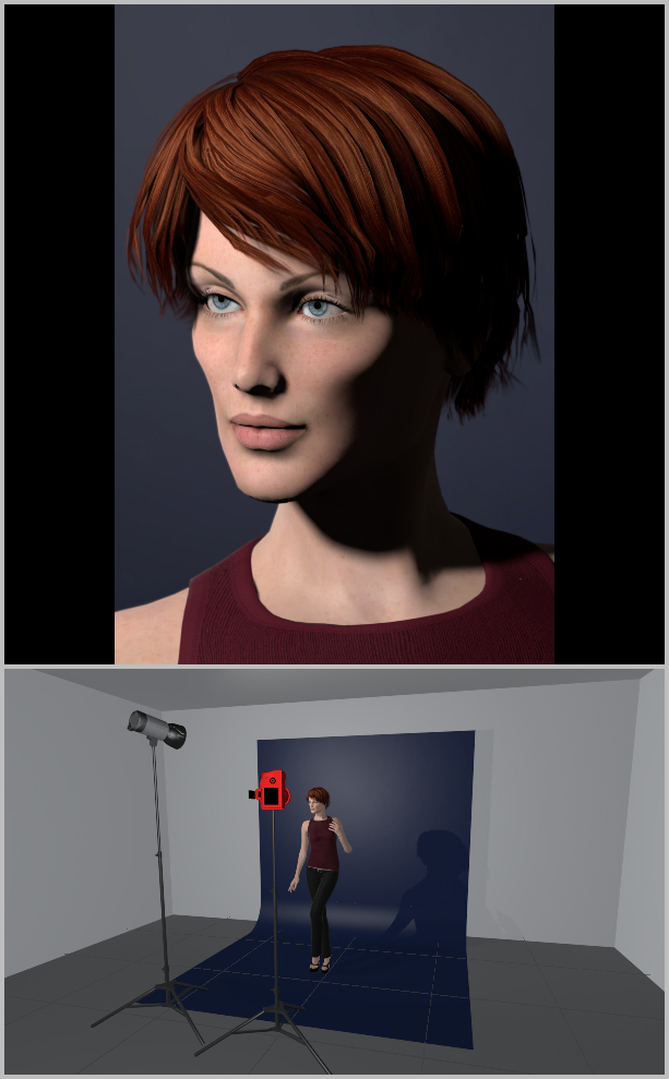 Jak nasvítit portrét I - short lighting