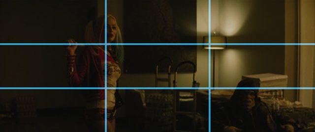 Kompozice ve fotografii a ve filmu: pravidlo třetin ve filmu Sebevražedný oddíl..