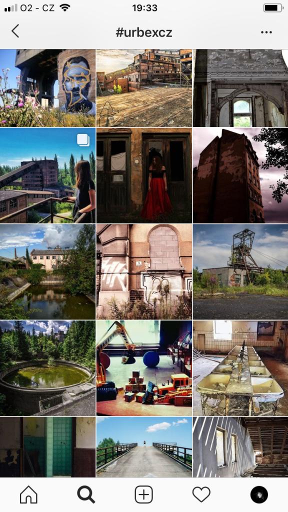 Jak najít opuštěná místa - instagram