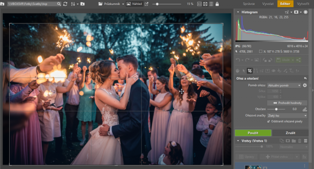 Ořezávání fotek: ořez fotografií v modulu Editor v ZPS X.