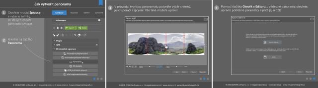 infografika - jak vytvořit panorama