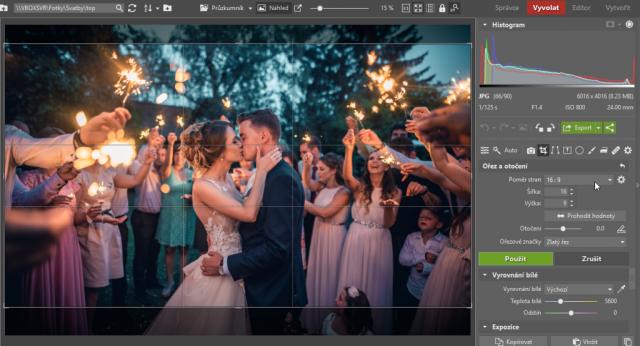 Ořezávání fotek: ořez fotografií v modulu Vyvolat v ZPS X.
