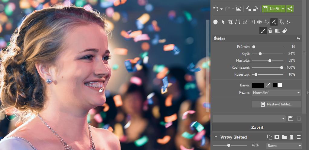 Jak opravit barvu pleti na fotkách? - zuby