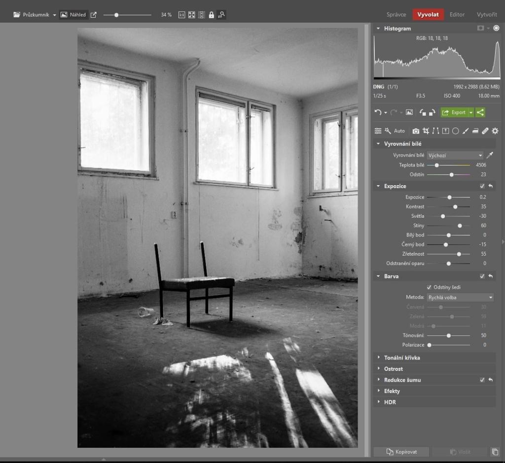 Urbex: dodejte fotkám atmosféru - pracovní postup 4