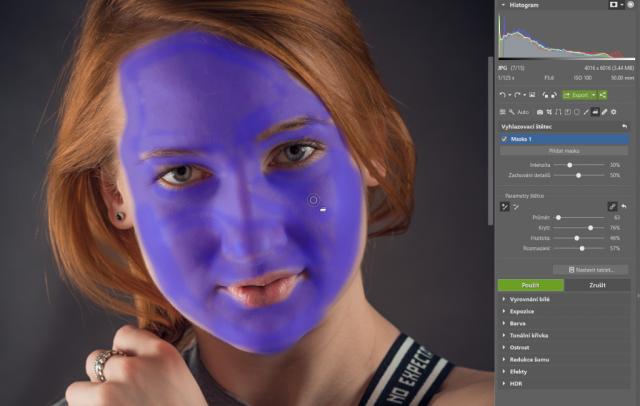 Retuš portrétů: maska pleti.