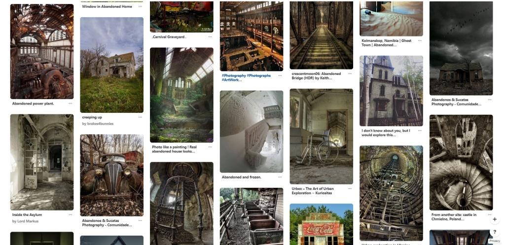 Urbex: dodejte fotkám atmosféru - Pinterest