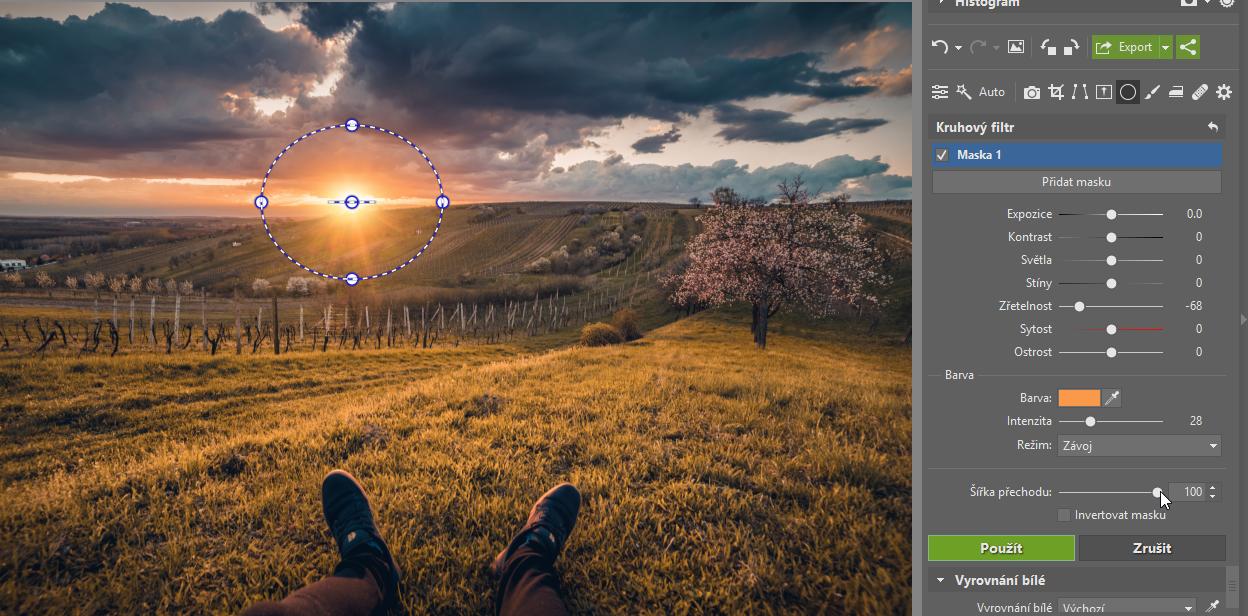 3 tipy, jak kreativně využít kruhový filtr - slunce