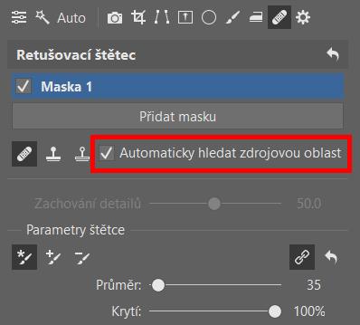 Retuš portrétů: automatické hledání zdroje.