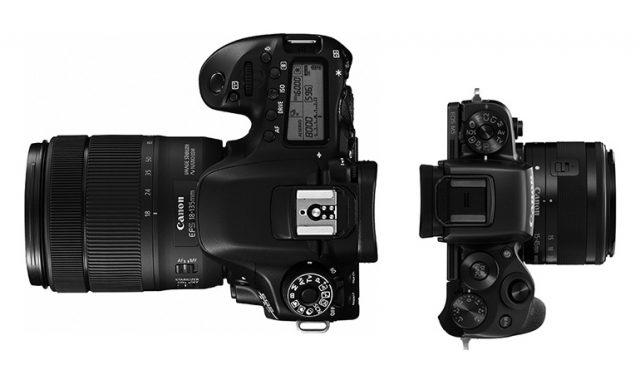Zrcadlovky vs. bezzrcadlovky: zrcadlovka a bezzrcadlovka Canon.