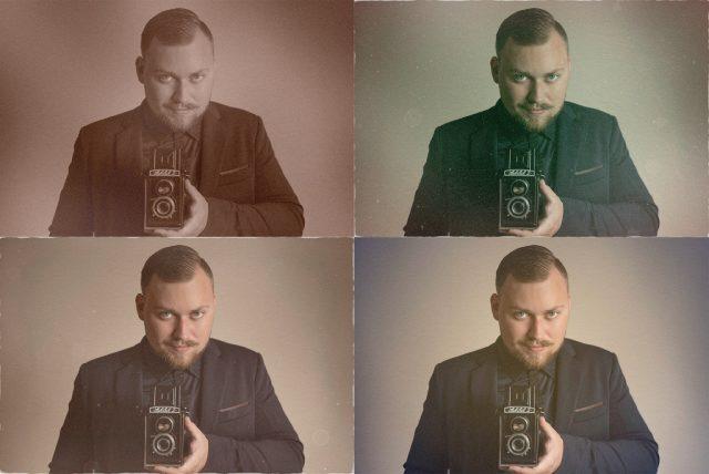 Jak dodat fotografiím starý vzhled: úpravy vytvořené funkcí Poškozená fotografie.