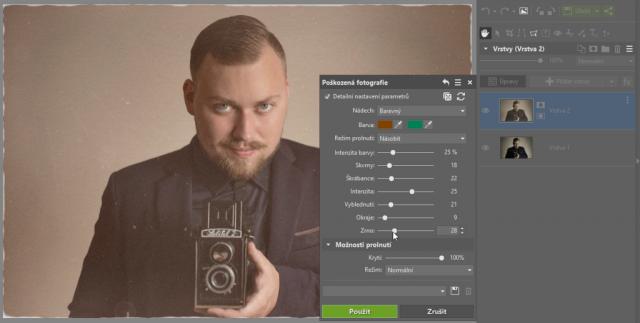 Jak dodat fotografiím starý vzhled: možnosti poškozené fotografie.