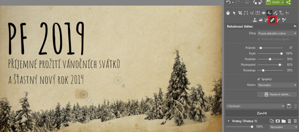 Vytvořte originální novoroční přání - retuš