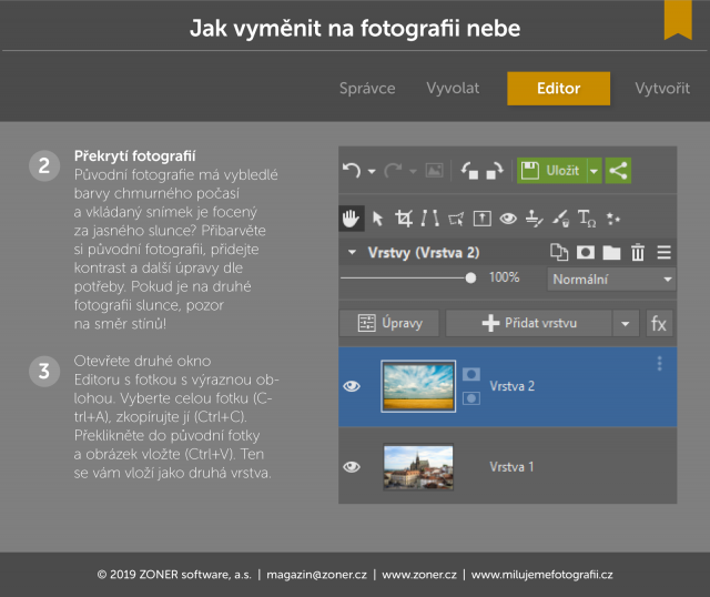 histogram fotografie uprava editace zoner zps krivky