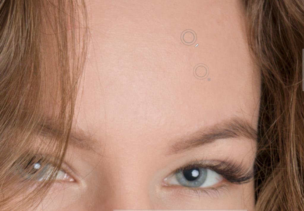 Naučte se retušovat portrét - retušovací štětec