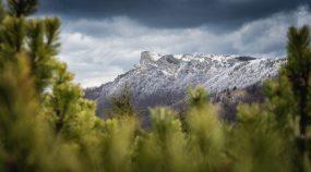 fotografie zima krajina panorama hory snih