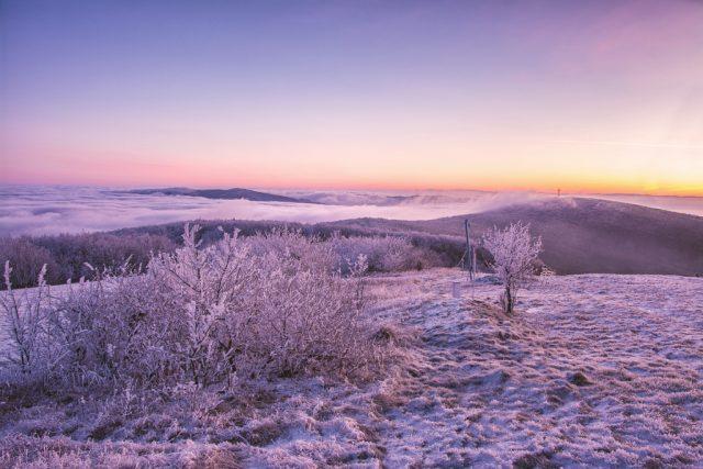 javorina hory fotografie panorama zps snih