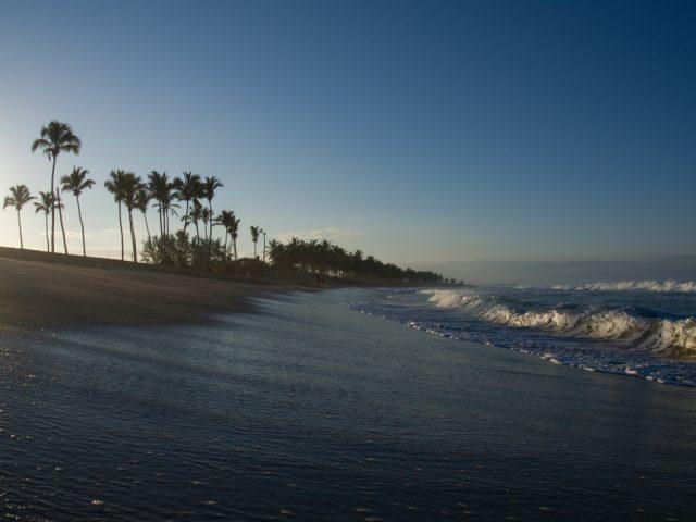 Úprava fotek pomocí křivek: originální snímek pláže.