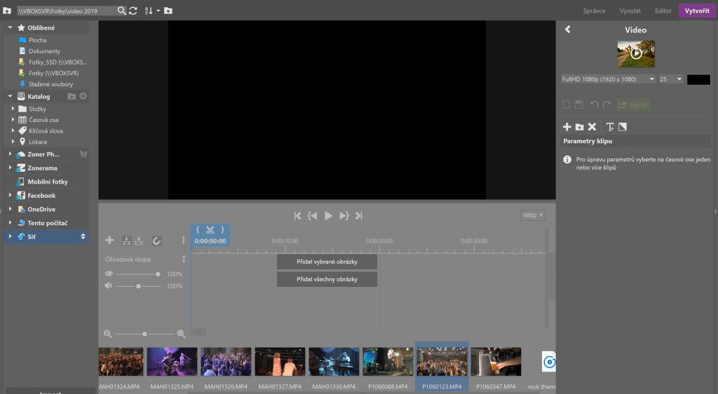 Vylepšená úprava videí v ZPS X - okno