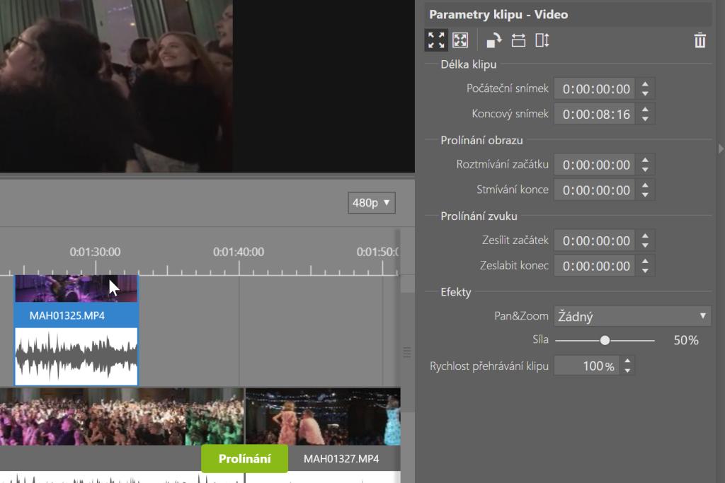 Vylepšená úprava videí v ZPS X - parametry