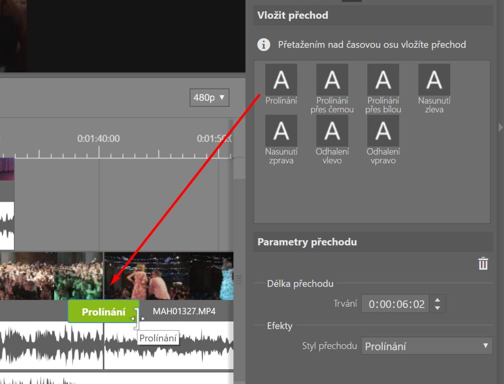 Vylepšená úprava videí v ZPS X - přechod mezi klipy