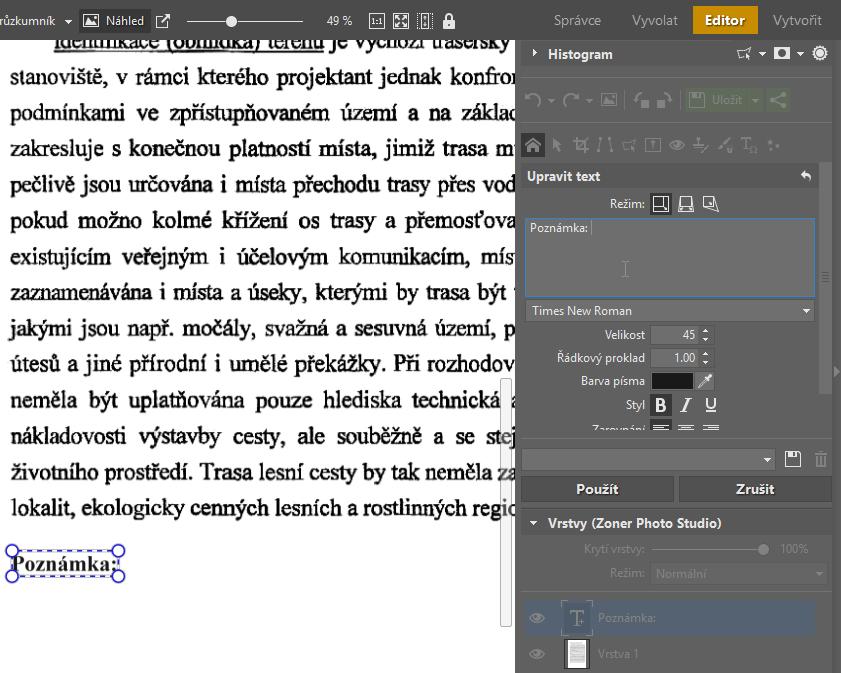 Upravujte PDF soubory - editor