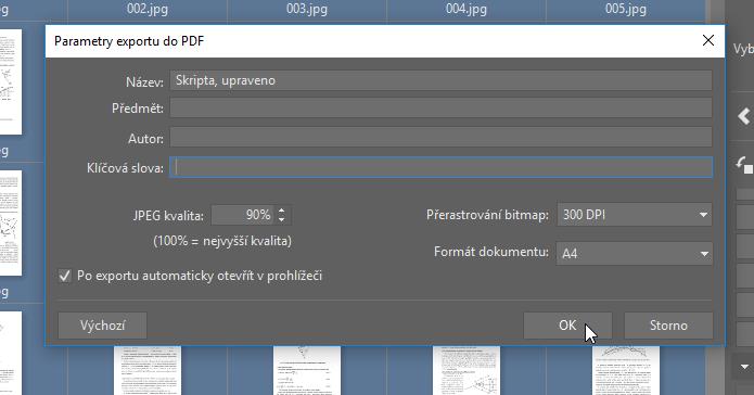 Upravujte PDF soubory - export zpět