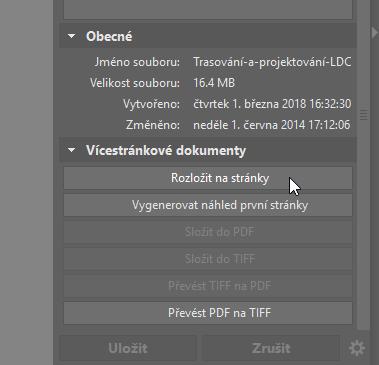 Upravujte PDF soubory - rozložit