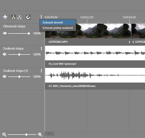 Jak na video v ZPS X - 2. díl - zobrazení úrovní
