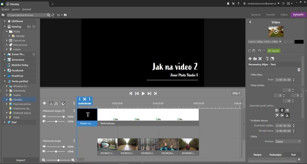 Jak na video v ZPS X - 2. díl - text
