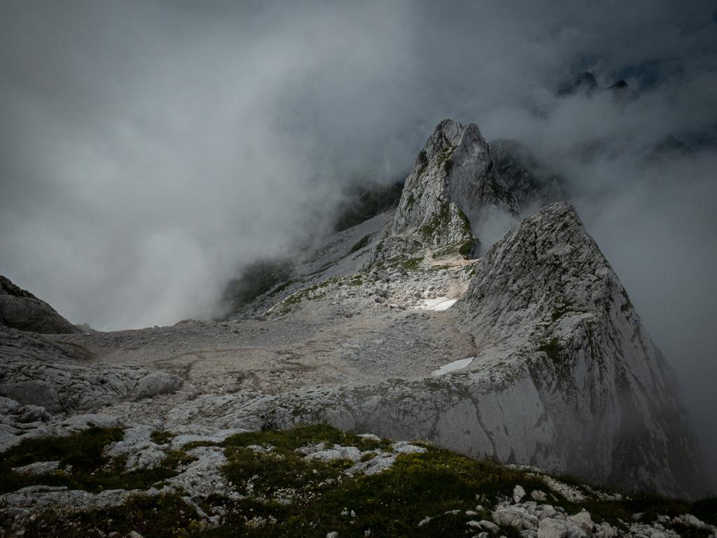 Focení krajiny ve Slovinsku - Mangart před úpravou