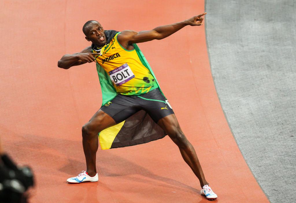 Rozhovor s Alešem Gräfem - Usain Bolt pózuje pro fotografy