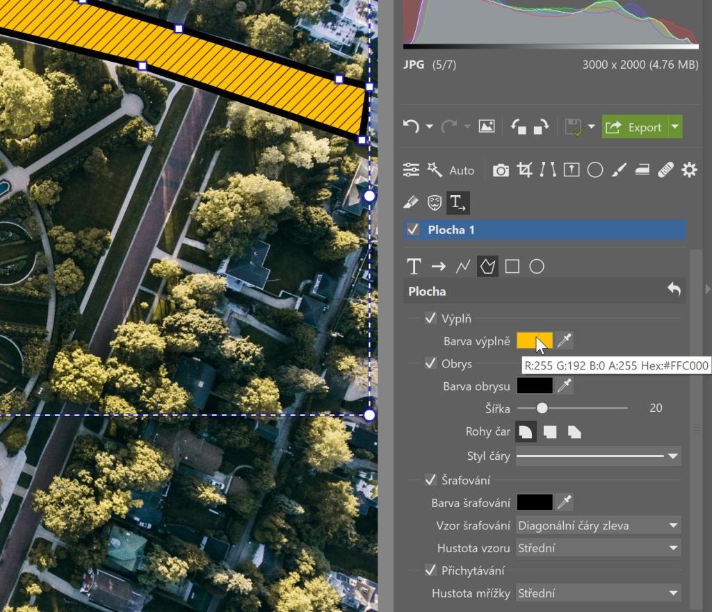 Anotace: označujte objekty na fotkách, popisujte, ukazujte cestu - nástroje