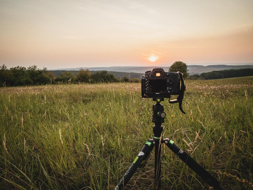 Změna světla v krajině - umístění fotoaparátu