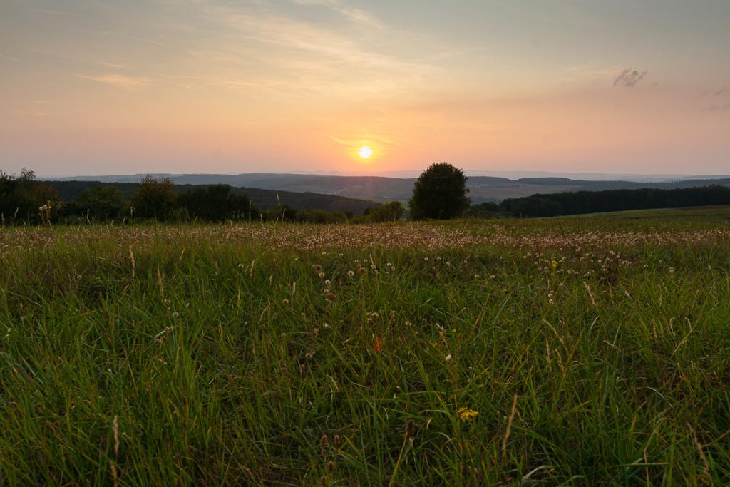 Změna světla v krajině - zlatá hodinka