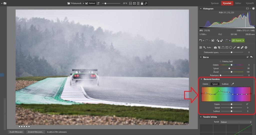 3 praktické ukázky, jak upravit fotky z automobilových závodů