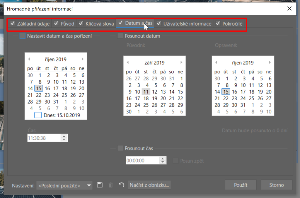 Používejte metadata - hromadná úprava metadat