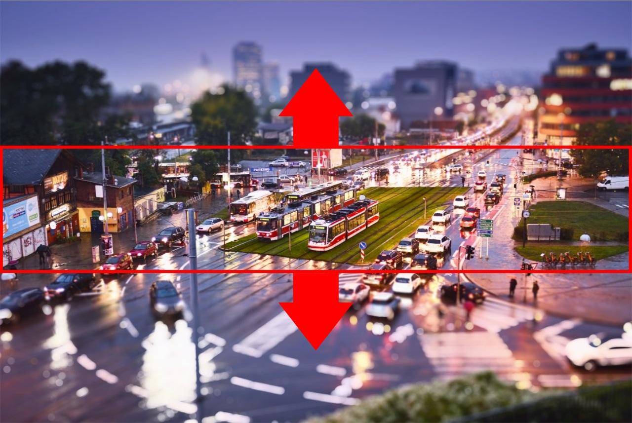 Vytvářejte miniatury pomocí Tilt-shift efektu - změna pozice
