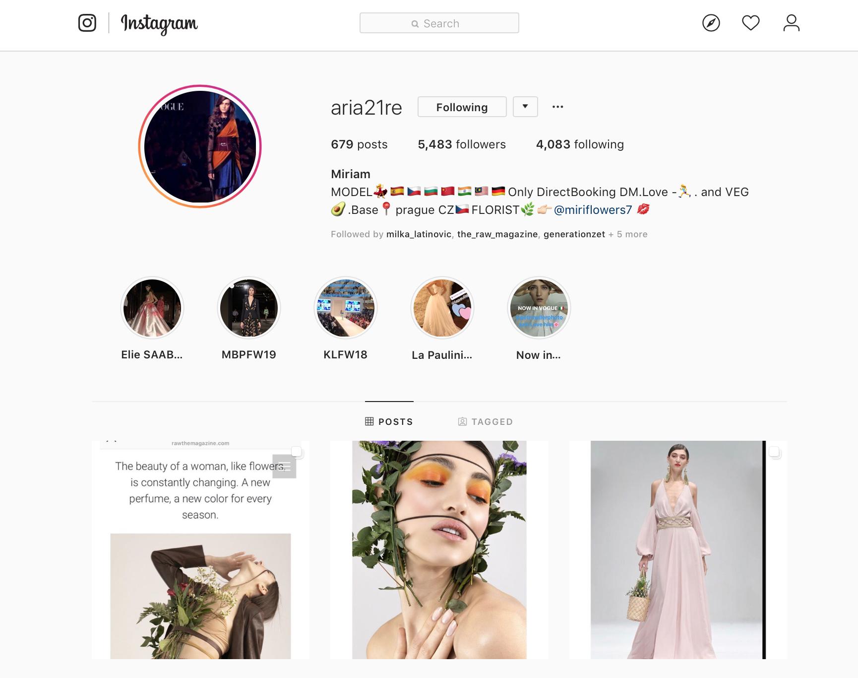 Portrétní škola I - instagram