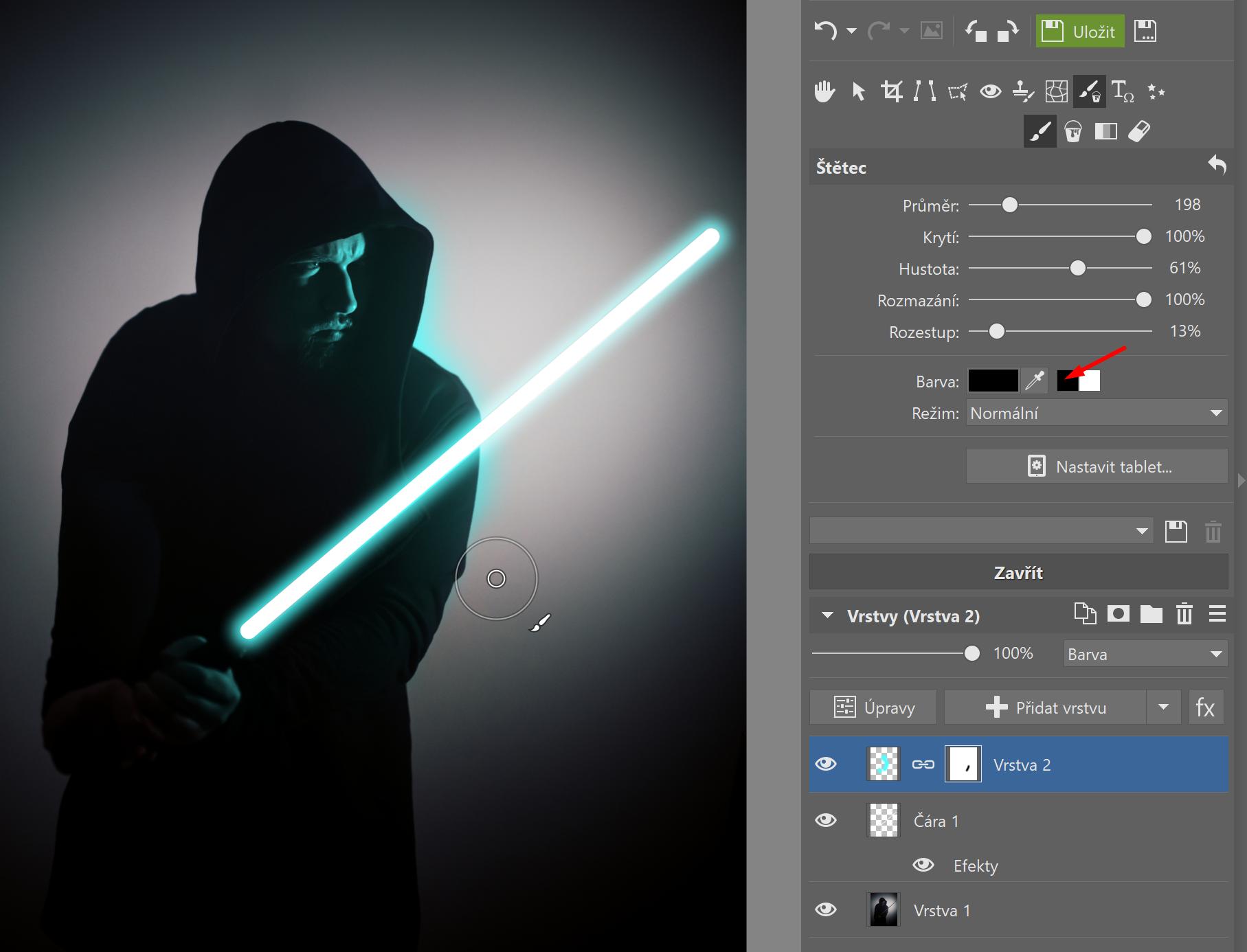 Star Wars speciál: přidejte si do fotky světelný meč - maskování fotky