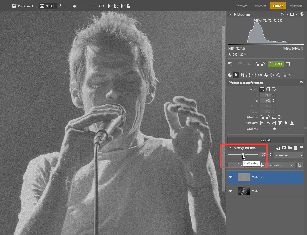Přidáváme zrno do černobílé fotografie: 2 způsoby, jak na to