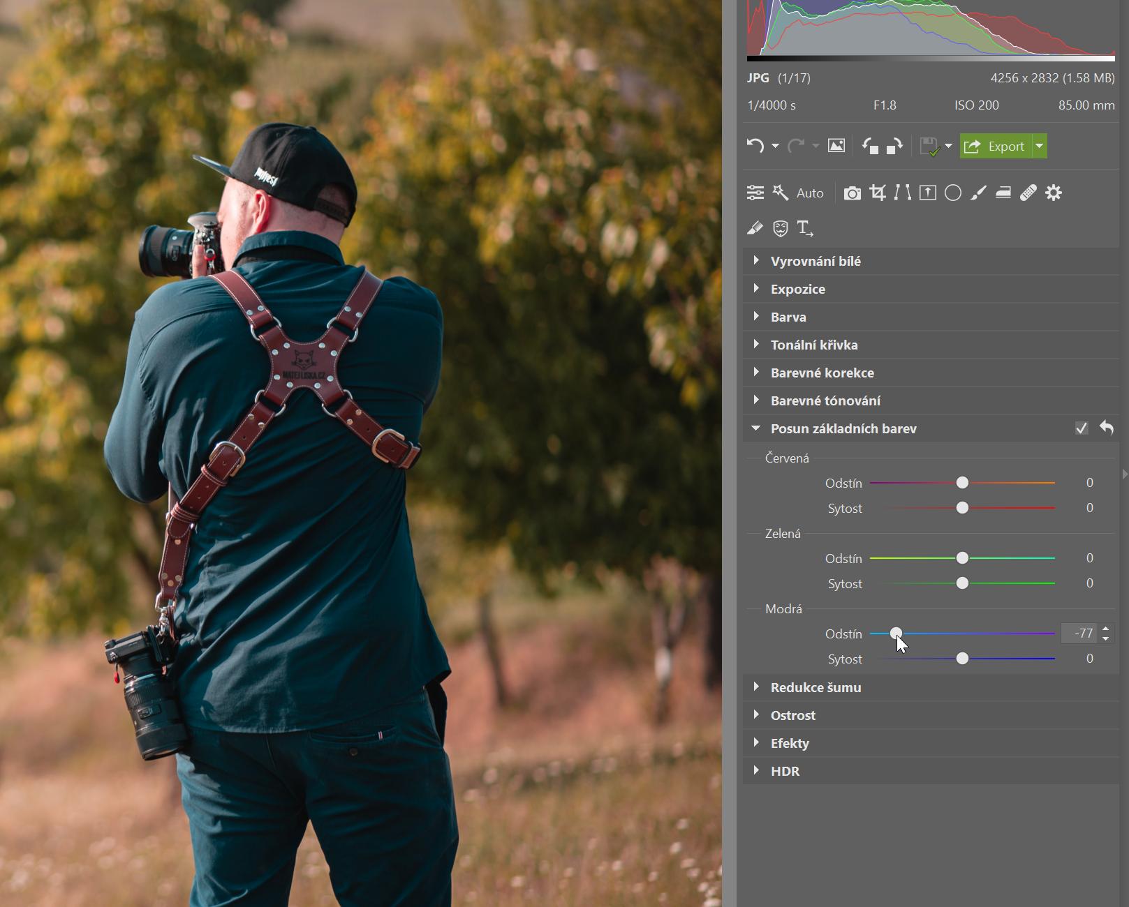 Posun základních barev: skvělý nástroj pro kreativní úpravy i jemné doladění barevnosti