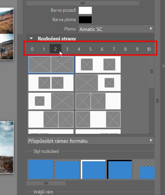 Jak vytvořit vlastní fotoknihu - rozložení stránky