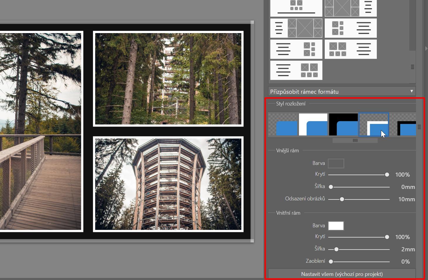 Jak vytvořit vlastní fotoknihu - výběr rámu fotek