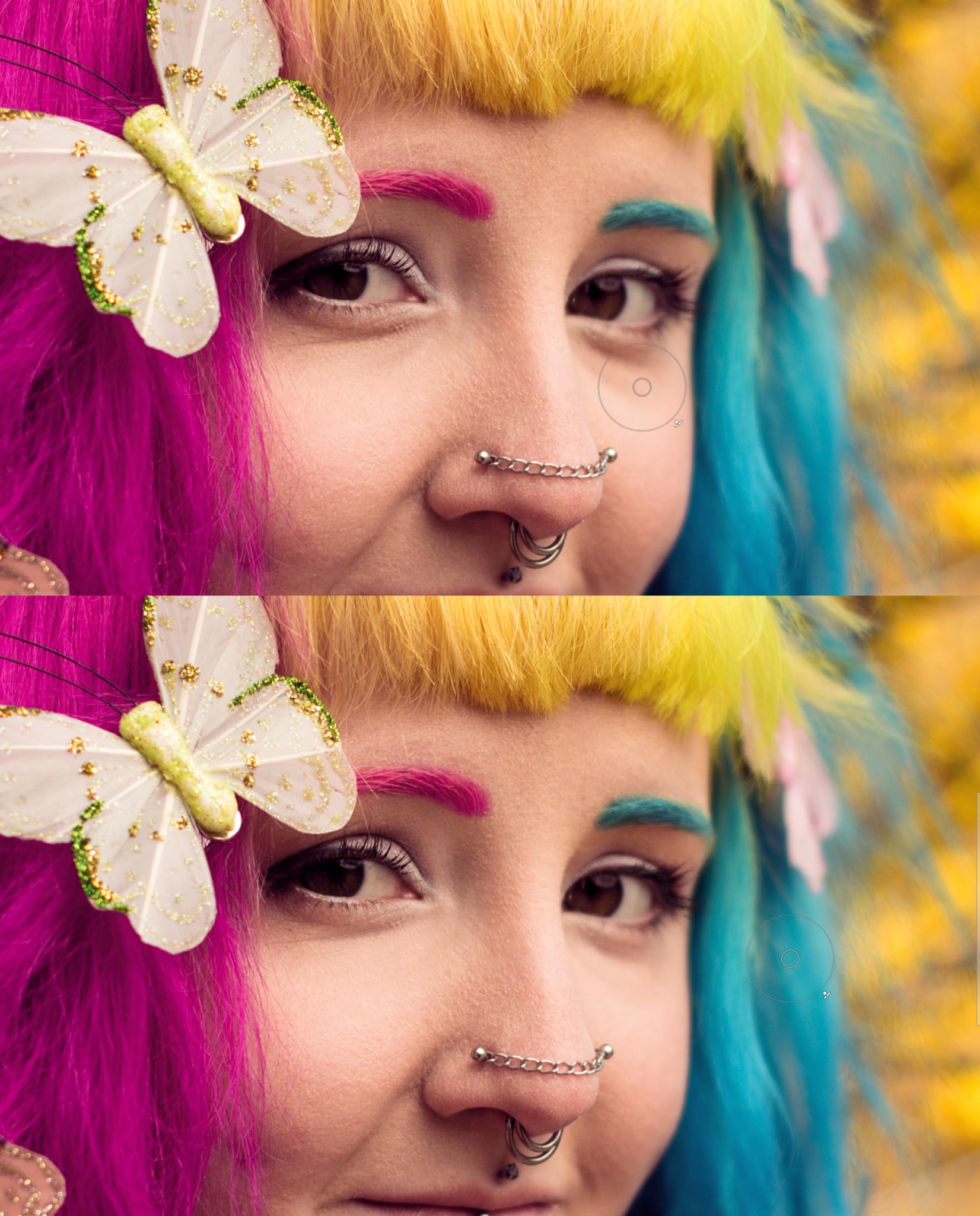 Úprava jarního portrétu II: jak na pokročilejší retuše v modulu Editor