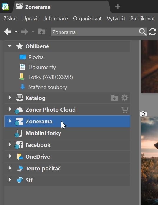 Jak nahrávat fotografie na Zoneramu přímo ze Zoner Photo Studia X