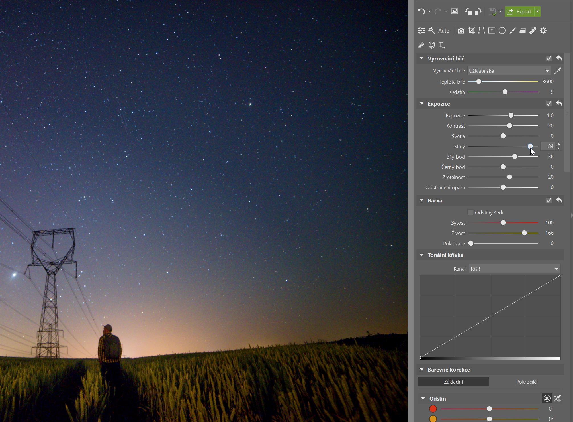 Fotky noční oblohy: expozice